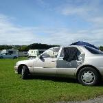 Car at Fitzmaurices Caravan Park