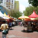 Outdoor market by Sim Lim square