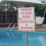 This sign at the poolside buffet doesn't make sense to me... but there it is