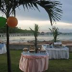 Reception near the sea
