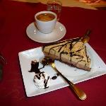 Our first taste of coffe and cake in Pisa, is it just me or is there a slight lean to the cake