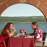 Dining overlooking Seneca Lake