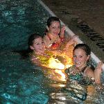 The birthday girl and friends loved the large pool and whirlpool