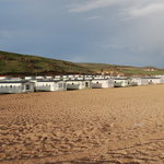 Caravan park situated in front of the beach