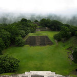 A misty morning at Xunantunich