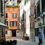 C\a Fortuny on the right, San Giorgio at the end of this quiet street