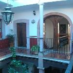 Interior courtyard - our room was in the corner