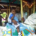 My son Marshawn and his dad on a ride