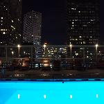 Rooftop pool offers amazing city views