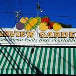 The farm stand greets you from Fairview Ave.