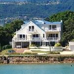 Amanzi Island Lodge on the edge of the Knysna lagoon.