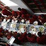  Lunch served in Khawalung Monastery