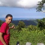 My son at el yunque.