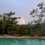 A beautiful rainbow early in the morning.