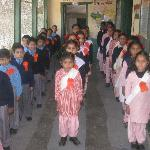Children in the school in Chail