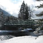 Bridge near Bow Falls Banff Canada