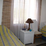Bedroom with two twin beds, Patsy's Seaside Villas