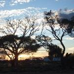 Sun goes down at Glendambo