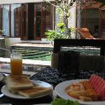Complimentary breakfast in the villa