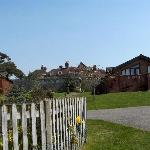 Lodge setting within the walled garden