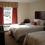Double Bedded Room with the Old Hampton Inn (Now A Quality Inn) in the Background.