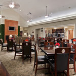 Welcome to the Homewood Suites' Lodge - a central area off the main lobby where you can relax, e
