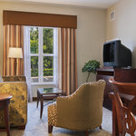 All Suites feature a separate living room area to work or relax in. Take advantage of a complime