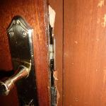 condition of door on my room