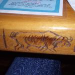 Carved detail on table