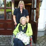  Mum and Trisha at the plaza oct 09