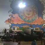 wall mural at the Corner Cafe