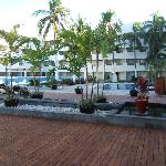 the courtyard looking toward hotel
