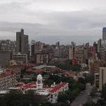  View of Hillbrow and Ponte Tower, Johannesburg from hotel rooftop