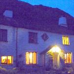 The welcoming lights of Nab cottage on our return from a walk