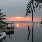  Sun set at Caye Caulker