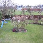 View from the bedroom over the garden