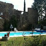 The pool and its backdrop