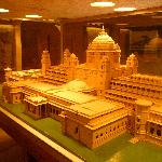 Miniature model inside the museum