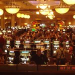 Inside the Casino on opening day.