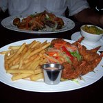 coconut shrimp entree with fries
