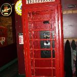 The London style telephone booth.