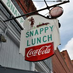 Famous Snappy Lunch Sign