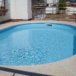  The small rooftop swiming pool