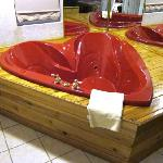 Heart-shaped tub in King Suite