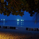 View from our Bungalow at night!