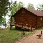 Waterfront cabins are just steps from the water's edge!