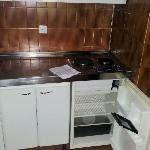 Small but adequate kitchen