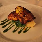 Blackened Mahi-Mahi and Sweet Chili Mash with Spinach