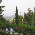 Val di Chiana from the pool