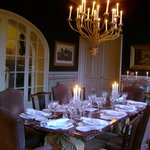 dining room at Le Verger